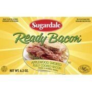 Sugardale Ready Bacon Applewood Smoked Fully Cooked Bacon, 6.3 oz