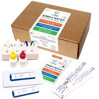 EZ Level Strep A Test Kit for Strep Throat Testing (25 Tests)