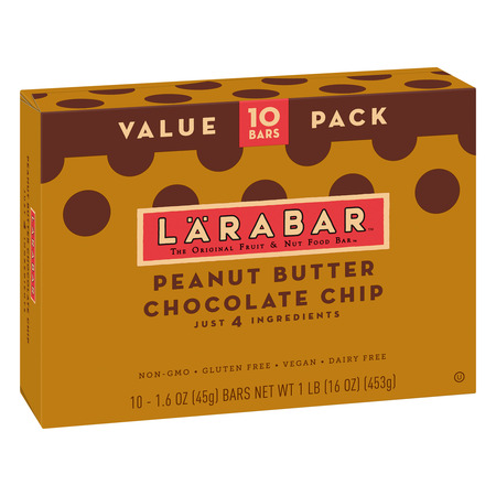 Larabar Gluten Free Peanut Butter Choc Chip Fruit & Nut Bars 16 oz (Bar Strawberry Nut)