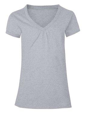 Girls' Shirred V-Neck T-shirt