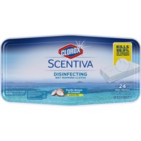 Clorox Scentiva Disinfecting Wet Mopping Cloths, Pacific Breeze & Coconut, 24 ct