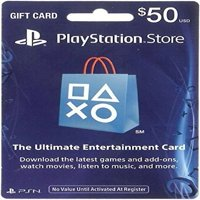 $50 PlayStation Store Gift Card, Sony, [Physically Shipped Card]