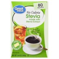 Great Value No Calorie Stevia, 80 count, 5.64 oz