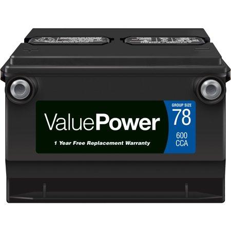 Valuepower Lead Acid Automotive Battery Group 78 Walmart Com