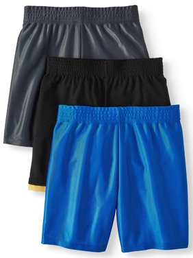 Dazzle & Jersey Hangdown Athletic Shorts, 3pc Multi-Pack (Toddler Boys)