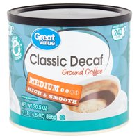 Great Value Classic Decaf Medium Ground Coffee, 30.5 oz