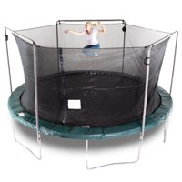 Bounce Pro 15-Foot Trampoline, with Electron Shooter Game, Green