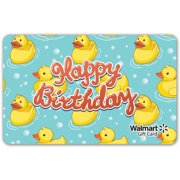 Duckie Birthday Walmart Gift Card