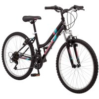 "24"" Roadmaster Granite Peak Girls Mountain Bike, Black"