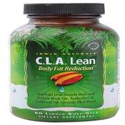 Irwin Naturals C.L.A.Lean Body Fat Reduction Weight Loss Pills, Liquid Softgels, 80 Ct.
