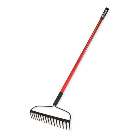 Forged Bow Rake (Bully Tools 92379 12-Gauge 16-Inch Bow Rake with Fiberglass Handle and 16 Tines,)
