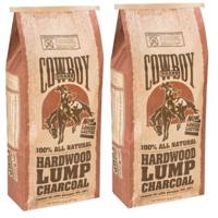 (2 pack) Cowboy® 20 lb Hardwood Lump Charcoal