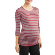 e6cf4ba3060e2 Maternity 3/4 Sleeve T-Shirt with Side Ruch