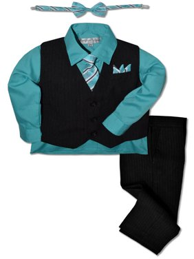 Johnnie Lene Boys Formal Pinstripe Dresswear Vest Set JL40