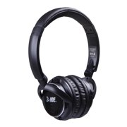 HDE Wireless Bluetooth Headphones Foldable On Ear Rechargeable Radio Headset (Black)
