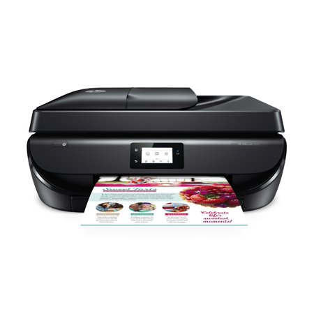 HP OfficeJet 5252 Wireless All-in-One Color Inkjet Printer (M2U82A) – Space saving printer for home or office