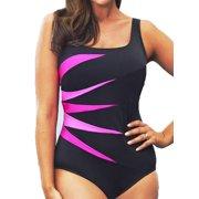 07939283fc1 Plus Size Womens Padded Push-up Swimsuit Monokini Bikini Swimwear Beach  Tankini
