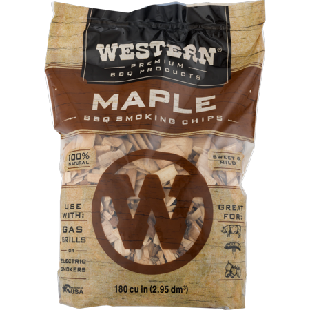 Western Premium BBQ Products Maple Smoking Chips, 180 CU.