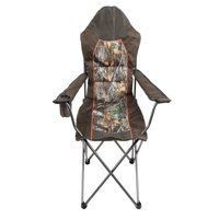 Realtree Edge Padded Outfitter Chair with Insulated Cup Holder, Brown