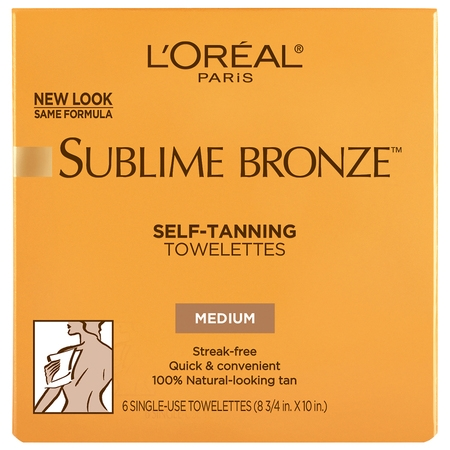 L'Oreal Paris Sublime Bronze Self-Tanning Towelettes for