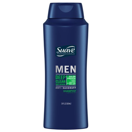 Mens Stamp ((2 Pack) Suave Men Deep Clean Mint Refresh Anti Dandruff Shampoo, 28 oz)