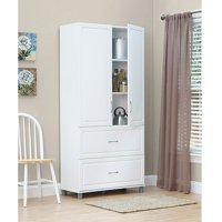 "SystemBuild 36"" 2 Door/2 Drawer Storage Cabinet, White Stipple"