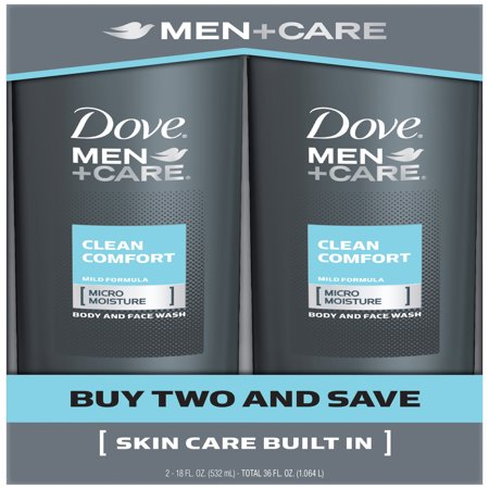 Dove Men+Care Body and Face Wash Clean Comfort 18 oz Twin Pack