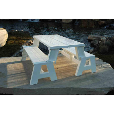 Picnic Table Set (Convert-A-Bench Outdoor Bench and Picnic Table)