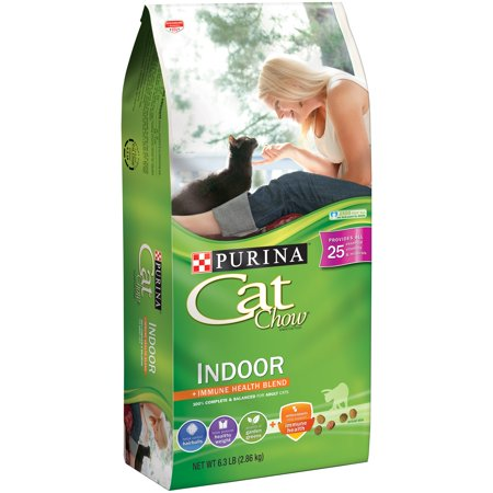 Purina Cat Chow Indoor Dry Cat Food, 6.3 lb (Chic Cat)