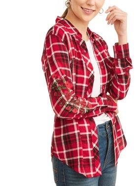 Women's Woven Plaid Shirt