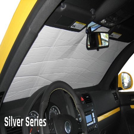 The Original Auto Sunshade, Custom-Fit for Ford F-250 Super Duty Truck (Crew Cab) w/o Sensor 2017, 2018, 2019, Silver Series - Super Sun