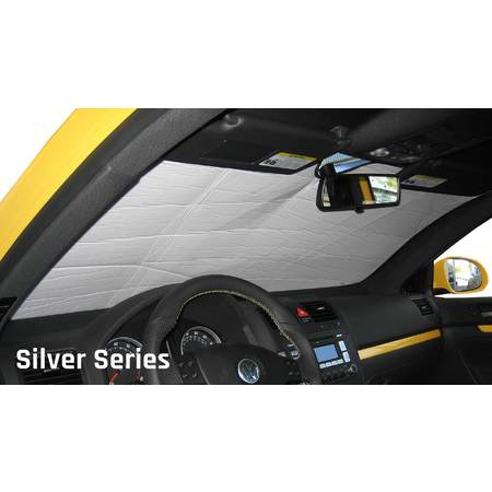 The Original Auto Sunshade, Custom-Fit for Jaguar XJR Sedan 2004, 2005, 2006, 2007, 2008, Silver Series