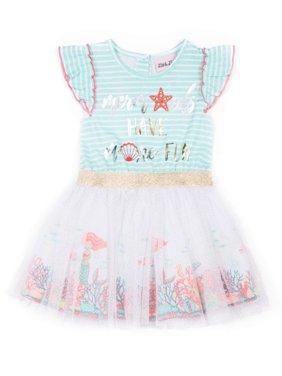 Short Sleeve Jersey & Tulle Tutu Dress (Baby Girls & Toddler Girls)