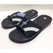 new style 1e759 9d2f9 Air Balance Men s Slide Sport Sandals (13, Black White)