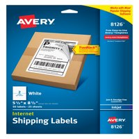 Avery Internet Shipping Labels, TrueBlock Technology, Permanent Adhesive, 5-1/2 x 8-1/2, 50 Labels (8126)