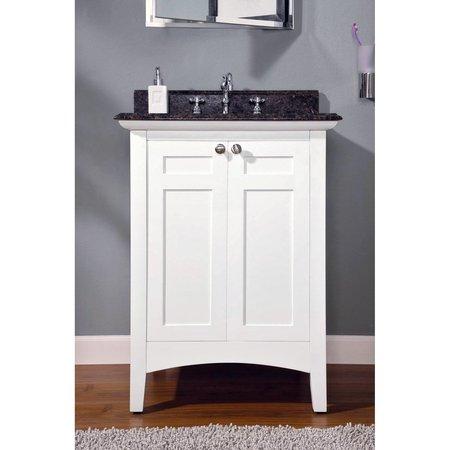 Empire Industries Biltmore Single Bathroom Vanity American Fluorescent White Vanity