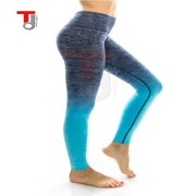 TD Collections Women's Slim Two Tone Workout Full Length Yoga Pants
