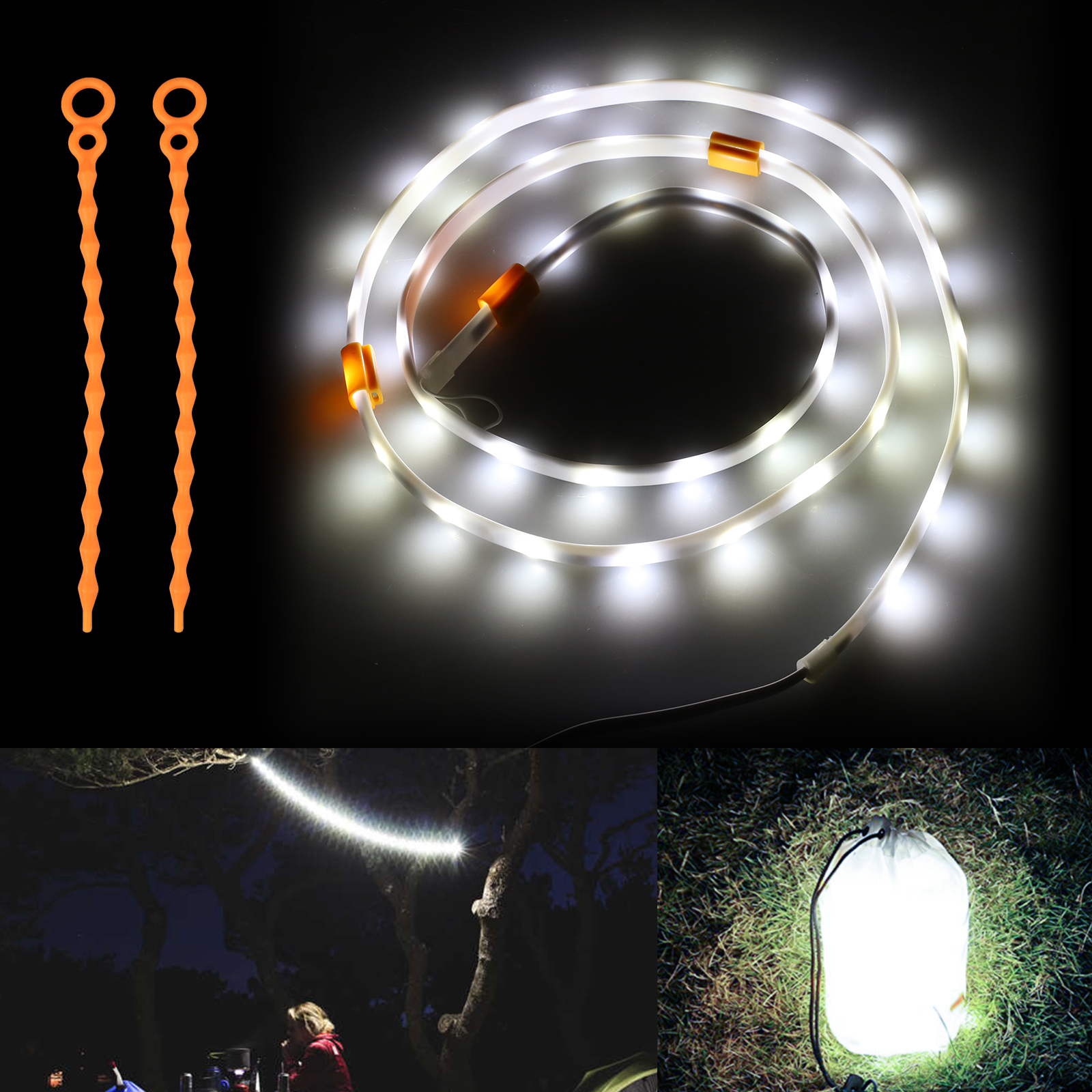 Outdoor Strip Light Lantern USB Power Strip Kohree Portable LED Rope Lights Stri