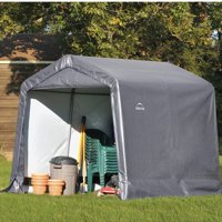 Shed-in-a-Box 8' x 8' x 8' Peak Style Storage Shed, Gray