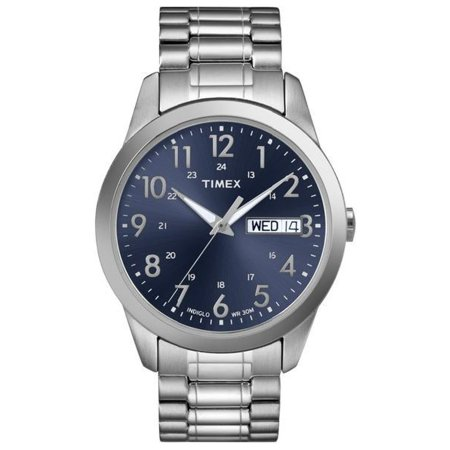 Men's South Street Sport Watch, Silver-Tone Stainless Steel Expansion (Timex Set Bracelet)