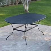 Oval Wrought Iron Patio Dining Table By Woodard
