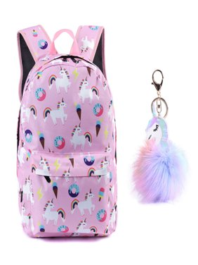 Unicorn Backpack Lightweight Kids School Preschool Travel Backpack for Girls with Free Unicorn Headbands or Unicorn Keychain