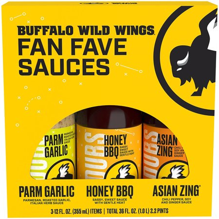 Buffalo Chicken Wing (Buffalo Wild Wings 3 Pack Variety Sauces, 3-12 fl oz )