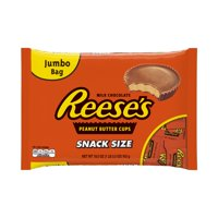 (2 Pack) Reese's, Peanut Butter Cups Chocolate Candy Snack Size, 19.5 Oz