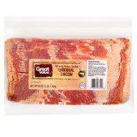 Great Value Original Naturally Hickory Smoked Bacon, 48 Oz.