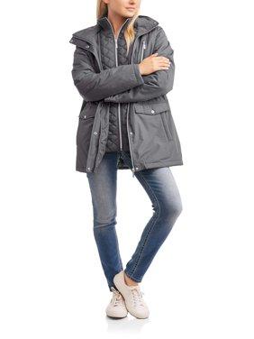 Harve Benard Women's Zip-Front Hooded Anorak with Vestee