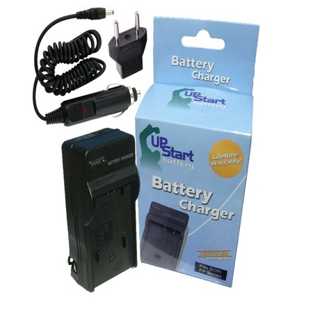 Sony Cybershot DSC-W55 Charger with Car Plug & EU Adapter - Replacement for Sony NP-BG1 Digital Camera Chargers (100-240V) (Np Bg1 Charger)