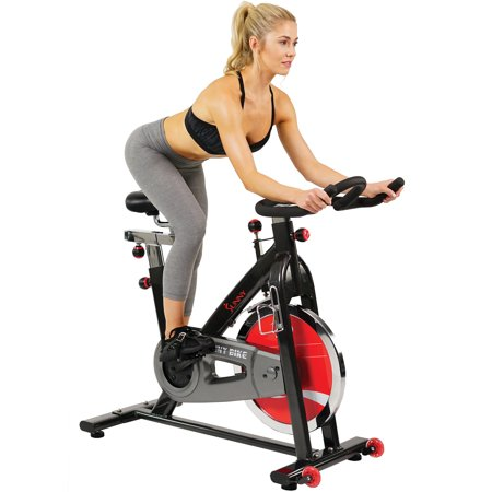 Sunny Health & Fitness SF-B1002 Indoor Cycling Exercise Bike with 49 lb. -