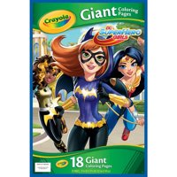 Crayola Giant Coloring Pages featuring DC Girl Superheroes, 18 ct
