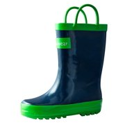 d67cb124e934 Oakiwear Kids Rain Boots For Boys Girls Toddlers Children Navy Blue